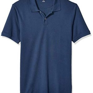 Amazon Essentials Mens Slim-Fit Cotton Pique Polo Shirt Shirt, -Cadet Blue, Medium