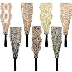 7 Pieces Lace Headbands Women Girls Stretch Headband Elegant Wide Headwrap Hair Turban Accessories